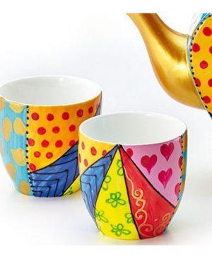Vaso mágico de porcelana
