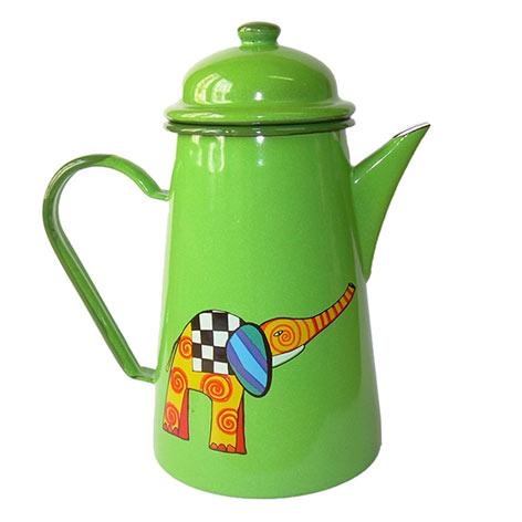 Cafetera en porcelana elefante