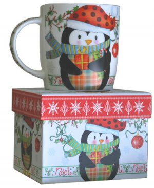 taza pingüino Navidad